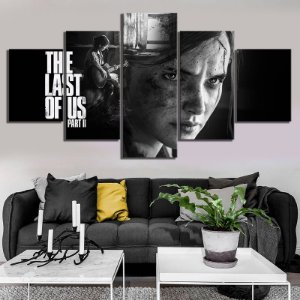 Quadro 5 Telas Decorativo Jogo The Last Of Us Part II (110x55 ou 160x90)