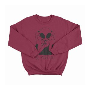 Moletom Gola Redonda Alien Be Yourself
