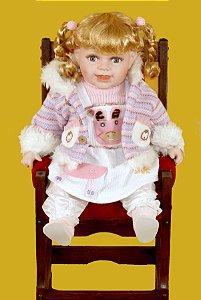 Boneca Importada Little Children PORCELANA 558A menina