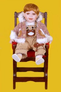 Boneca Importada Little Children PORCELANA 558 menino