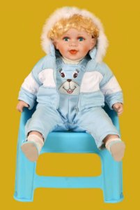 Boneca Importada Little Children PORCELANA 571 menino