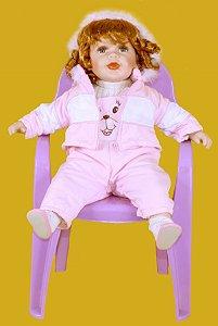 Boneca Importada Little Children PORCELANA 571A menina