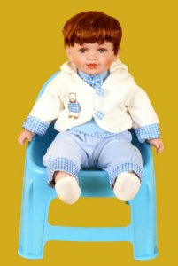 Boneca Importada Little Children PORCELANA 144 menino