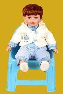 Boneca Importada Little Children PORCELANA 144 menino