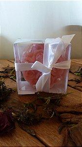 Sabonete de flor na caixinha