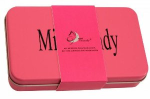 Kit de 12 pincéis na lata Miss Frandy