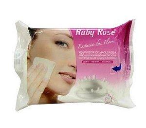 Lenço Removedor de maquiagem - Ruby Rose 25 unidades