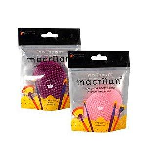 Esponja de silicone para limpeza de pincéis - Macrilan