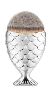 Pincel de blush Peixinho prata