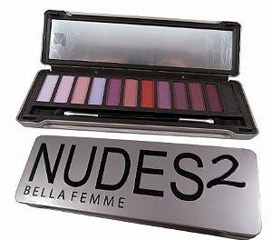 Paleta de sombra fosca nudes 2  Bella Femme