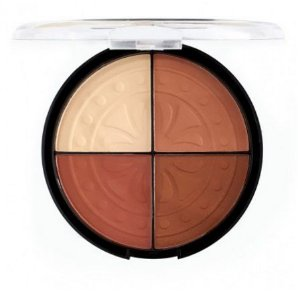Blush Iluminador Strobing Moon 4 Cores - Fenzza Make Up FZ - BS10MO-DS Cor C2