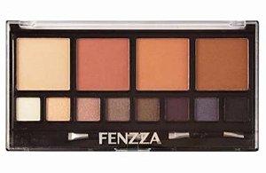 Kit Faces - Pó Compacto e Sombras Fenzza Makeup KM95