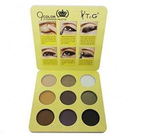 Paleta de Sombra 9 Cores Pin up Amarela Tango