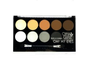 Paleta de sombras Oh My Eyes- City Girl -cor 2