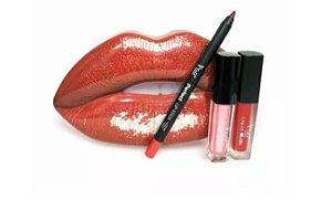 Kit Boca Lip Stick Glitter Liquid+ Liquid Matte -PG6899 T&G