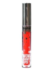 Gloss Labial Wow Shiny Lips Vermelho Alaranjado - Ruby Rose HB821848