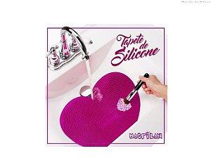 Tapete de Silicone para Limpeza de Pincéis - CP 02 Macrilan Pink