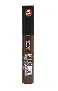 Tattoo Brow Delineador NewFace Makeup - Cor 02 Marron Escuro