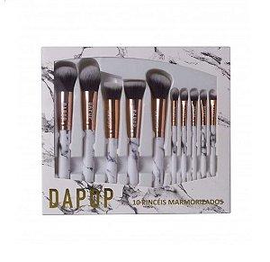 Kit com 10 Pincéis Dapop Marmorizados Rose -HB 97088
