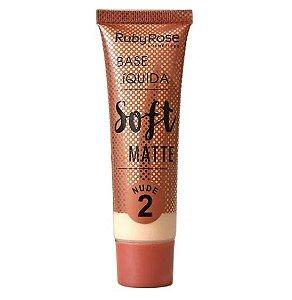 Base Liquida Soft Matte Nude Ruby Rose -Cor 2