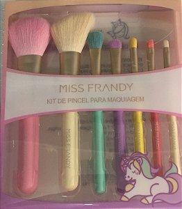 Kit com 7 Pincéis Miss Frandy