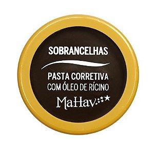 Pasta corretiva para Sobrancelhas com óleo de Rícino - Mahav Cor 2