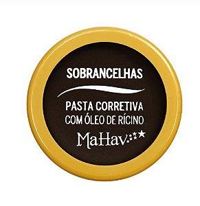 Pasta corretiva para Sobrancelhas com óleo de Rícino - Mahav Cor 3