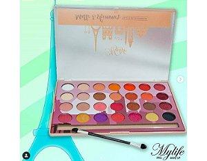 Paleta de Sombras 28 cores  Matte & Shimmer - My Life