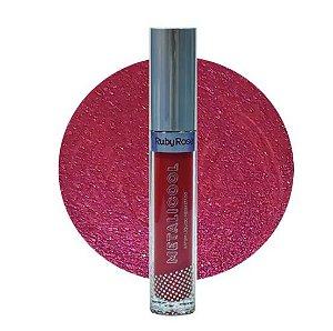 Batom Líquido Metalicool -Ruby Rose HB 8219-061