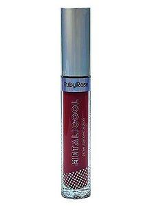 Batom Líquido Metalicool -Ruby Rose HB 8219-279