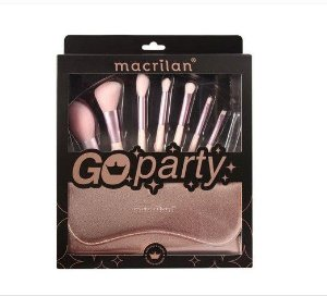kit com 7 Pincéis Go Party- Macrilan ED007