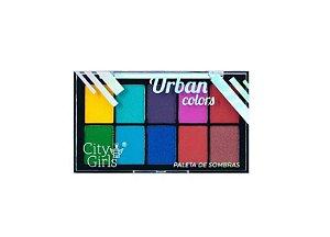 Paleta de Sombras 10 cores Urban - City Girls -Cor A