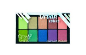 Paleta de Sombras 10 cores Urban - City Girls -Cor B
