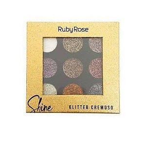 Paleta Shine Glitter Cremosa-Ruby Rose Cor A