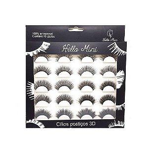 Çilios Postiços 3D 10 pares - Hello Mini CL062