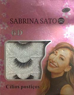 Cilios Postiços 3 Pares 6D - Sabrina Sato  F027