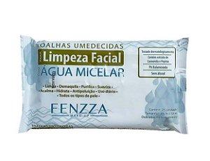 Toalhas Umedecidas para Limpeza Facial  com Água Micelar - Fenzza