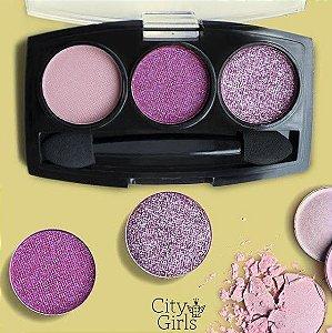 Paleta de Sombras 3 cores- City Girl Cor C