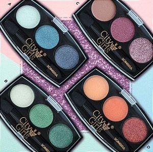 Paleta de Sombras 3 cores- City Girl Cor D