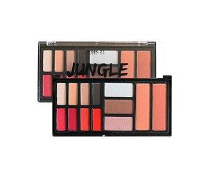 Paleta de Sombras Iluminador Contorno e Blush Jungle - Pink 21