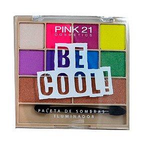 Paletas de Sombras e Iluminador Bee Cool - Pink 21 Cor 03