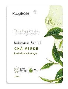 Máscara Facial de Tecido Chá Verde Skin - Ruby Rose Hb704