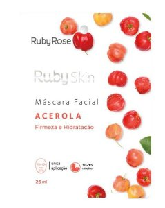 Máscara Facial de Tecido Acerola Skin - Ruby Rose Hb701