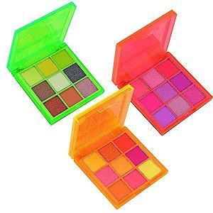 Kit com 3 Paletas de Sombras Neon - My Life