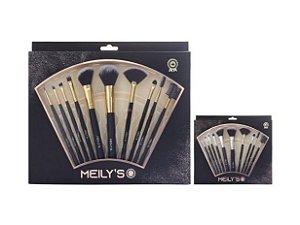Kit de Pincel Profissional Meily's MKP-153 Preto