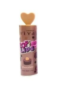 Batom Pop Lips Vivai -Chocolate