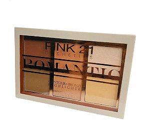 Paleta de Contorno Bronze e Iluminador - Pink 21 Cor 02
