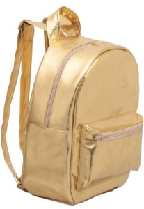 Mochila Infantil Dourada Rafi Metalizada 7003