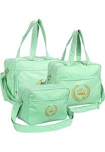 Kit Bolsas Maternidade Rafi Verde Coroa