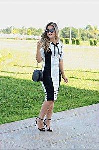 Vestido Tubinho  Waldorf  P&B